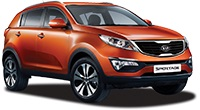 Small 4x4 -  eg Kia Sportage Car Hire  from only £94.91 per day