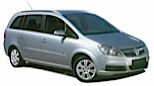 GROUP 7 MPV - eg Vauxhall Zafira Car Hire  from only £81.84 per day